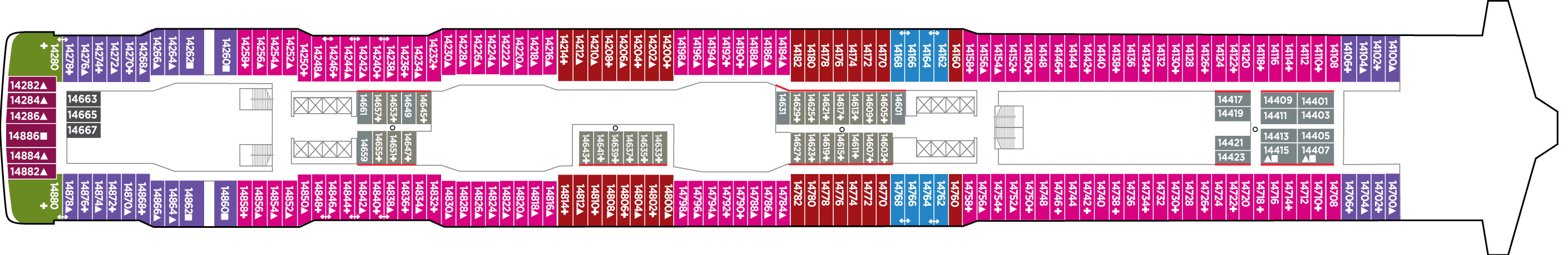 Norwegian Cruise Lines Norwegian Bliss Deck Plans Deck 14.png