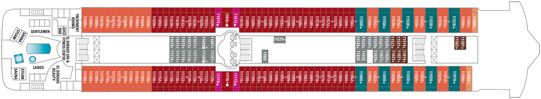 Norwegian Cruise Line Norwegian Dawn Deck Plans Deck 11.png