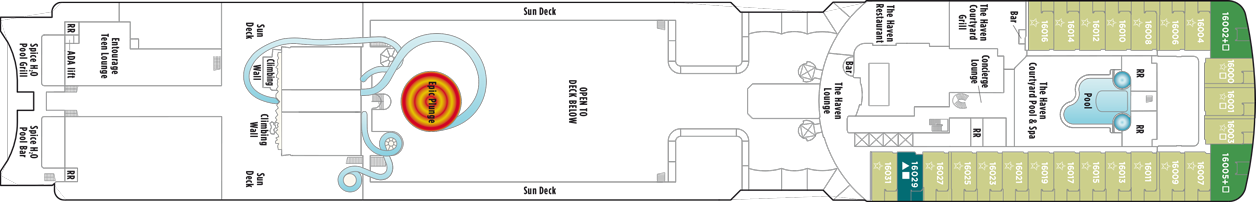 Norwegian Cruise Line Norewegian Epic Deck Plans Deck 16.png
