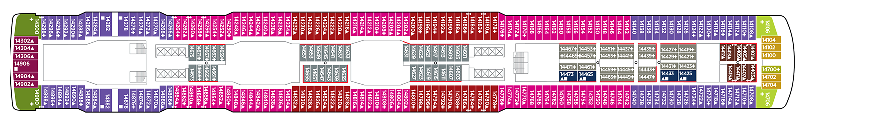 Norwegian Cruise Line Norwegian Escape Deck Plans Deck 14.png