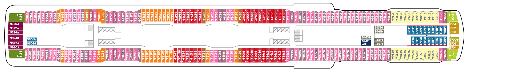 Norwegian Cruise Line Norwegian Escape Deck Plans Deck 9.png