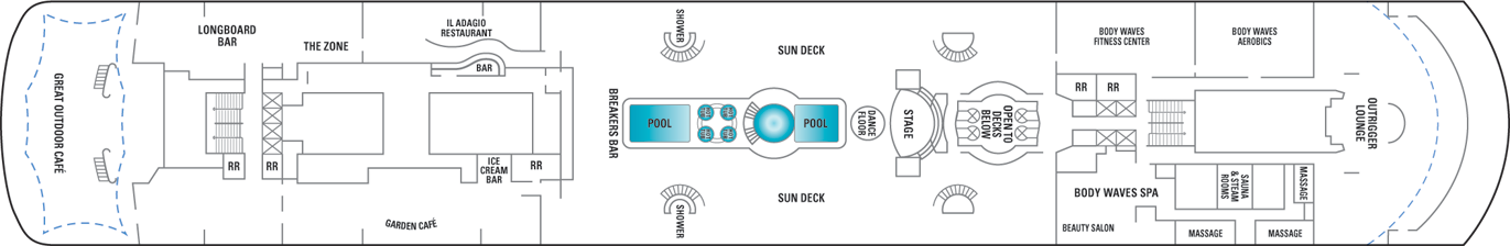 Norwegian Cruise Line Norwegian Sky Deck Plans Deck 11.png