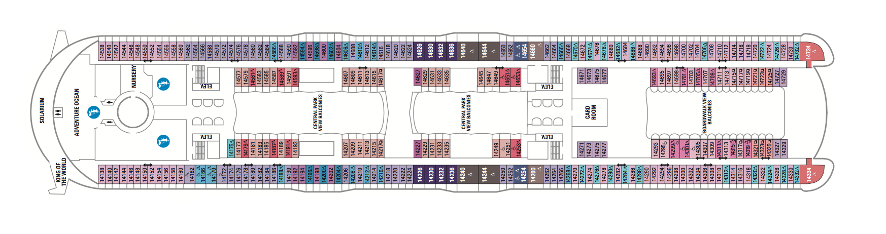Royal Caribbean International Symphony of the Seas Deck Plans Deck 14.png
