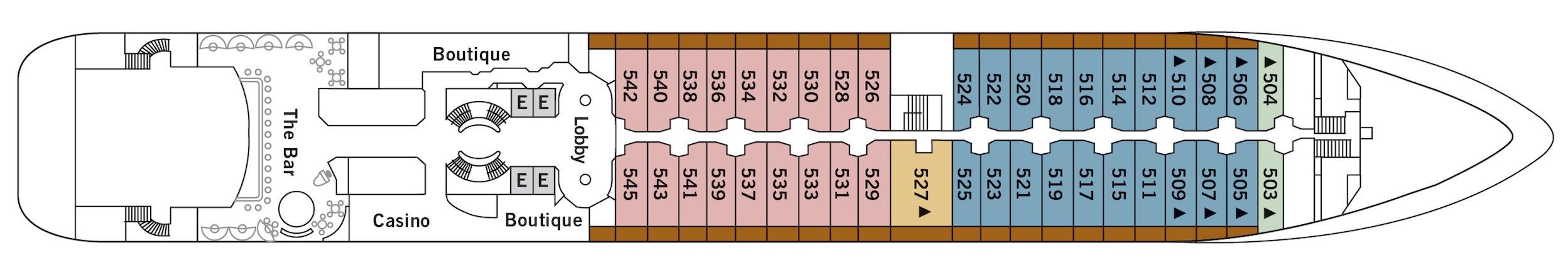Silversea Cruises Silver Wind Deck Plans Deck 5.jpg