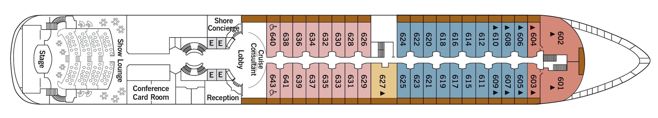 Silversea Cruises Silver Wind Deck Plans Deck 6.jpg